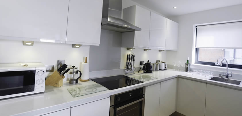 Ocean Village serviced apartment full kitchen